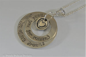 Thank You For Raising The Man Of My Dreams Necklace - Purple Pelican Designs