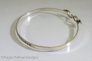To Infinity And Beyond Hinged Bangle - Purple Pelican Designs