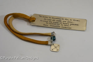 Hans Christian Andersen Quote Bookmark - To move, to breathe, to fly, to float...