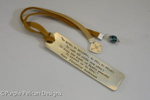 Hans Christian Andersen Quote Bookmark - To move, to breathe, to fly, to float... - Purple Pelican Designs
