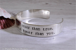 Dr. Seuss quote bracelet - Today you are you... - Purple Pelican Designs