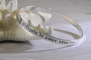 Dr. Seuss Quote Bangle - Today You Are You... - Purple Pelican Designs