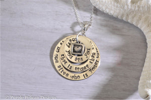 Dr. Seuss Necklace - Today You Are You... - Purple Pelican Designs