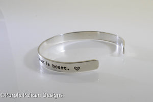 Together forever, never apart... hand stamped bracelet - Purple Pelican Designs