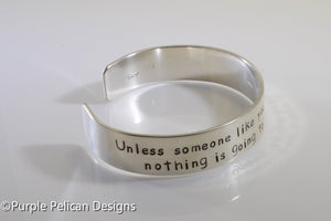 Dr. Seuss quote bracelet - Unless someone like you cares a whole awful lot... - Purple Pelican Designs