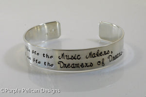 We are the Music Makers and we are the Dreamers Of Dreams - Purple Pelican Designs