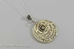 We'll be friends forever won't we Pooh? Winnie the Pooh quote necklace - Purple Pelican Designs