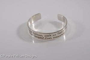 Pooh quote bracelet - We'll Be Friends Forever Won't We, Pooh?... - Purple Pelican Designs
