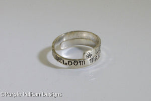 Sterling Silver Ring - Well Behaved Women Seldom Make History - Purple Pelican Designs