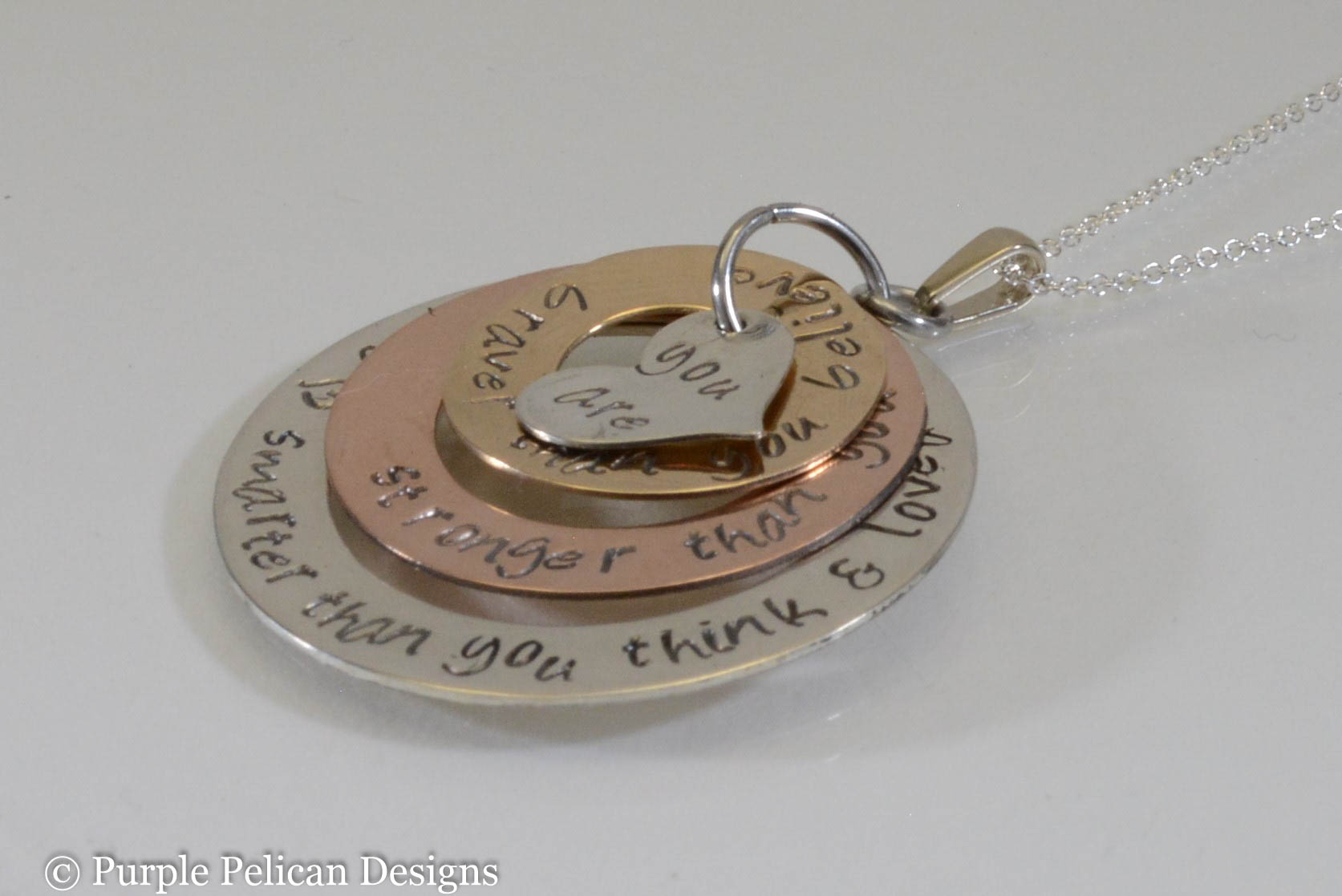 Gold and Sterling Silver Necklace - If There Ever Comes A Day When We Can't  Be Together - Pooh Quote