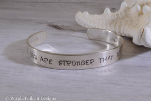 F---K CANCER bracelet - You are stronger than you know - Purple Pelican Designs