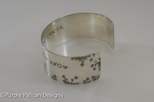 F---K CANCER floral bracelet - You are stronger than you know - Purple Pelican Designs