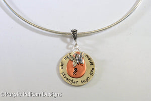 F---K CANCER necklace - You are stronger than you know