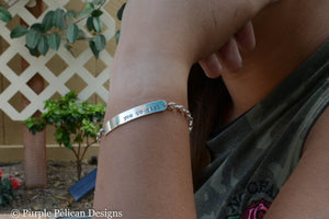 Be You Tiful Sterling Silver Chain Bracelet - Purple Pelican Designs
