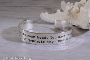 Dr. Seuss graduation quote bracelet - You have brains in your head... - Purple Pelican Designs
