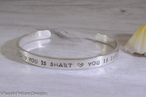 You is kind, You is smart, You is important Bracelet - Purple Pelican Designs