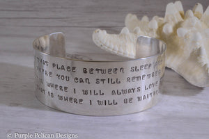 That place between sleep and awake - Peter Pan inspired bracelet - Purple Pelican Designs