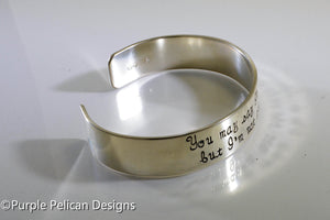 Song lyric Bracelet - You may say I'm a dreamer... - Purple Pelican Designs