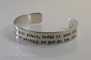 Dr. Seuss graduation quote bracelet - You're off to great places... - Purple Pelican Designs