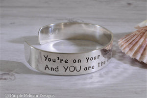 Dr. Seuss graduation quote bracelet - You're on your own... - Purple Pelican Designs