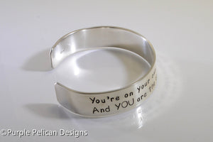 Dr. Seuss graduation quote bracelet - You're on your own...