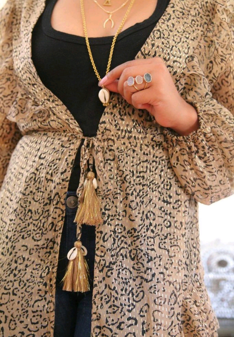 Animal Print Duster and Cover Up