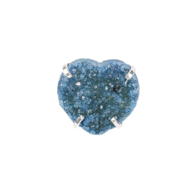 The Rima Heart Druzy Ring Collection