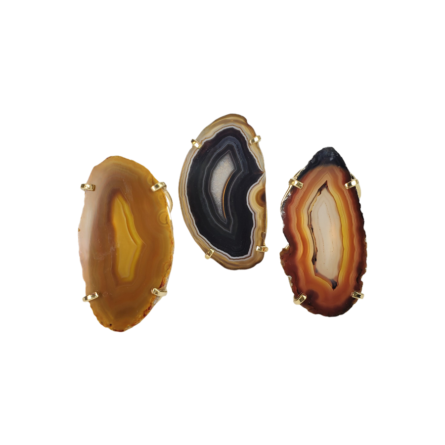 The Aliza Agate Ring Collection