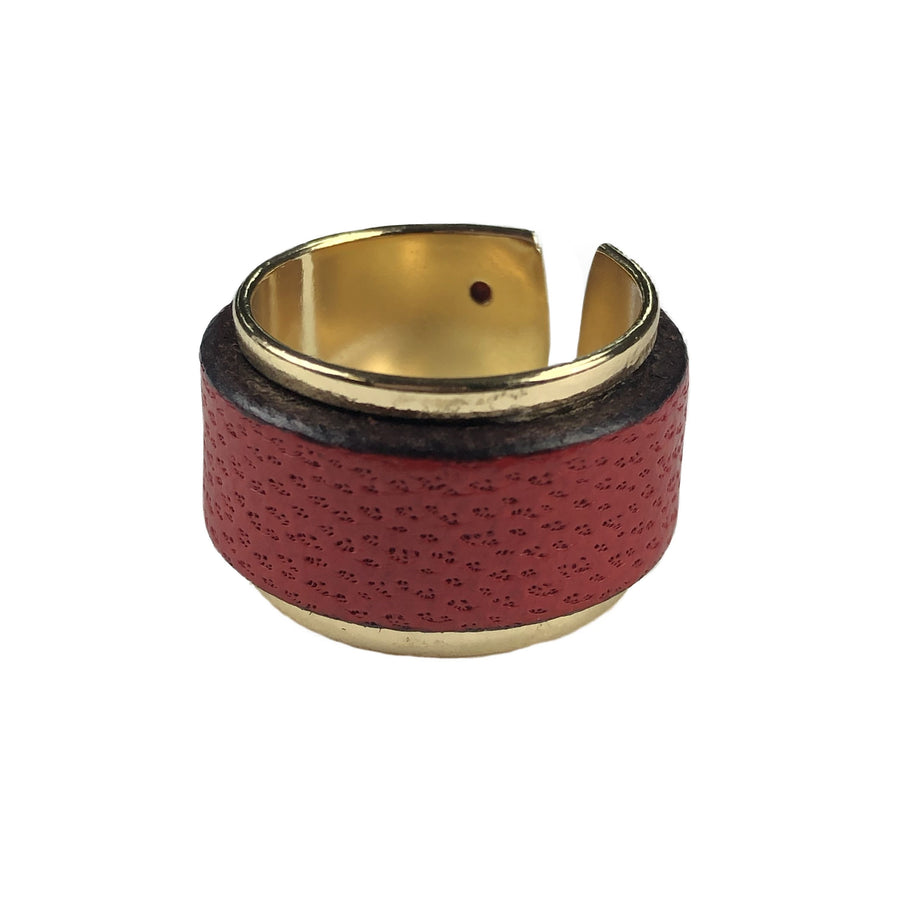 The Bren Leather Cuff Ring Collection