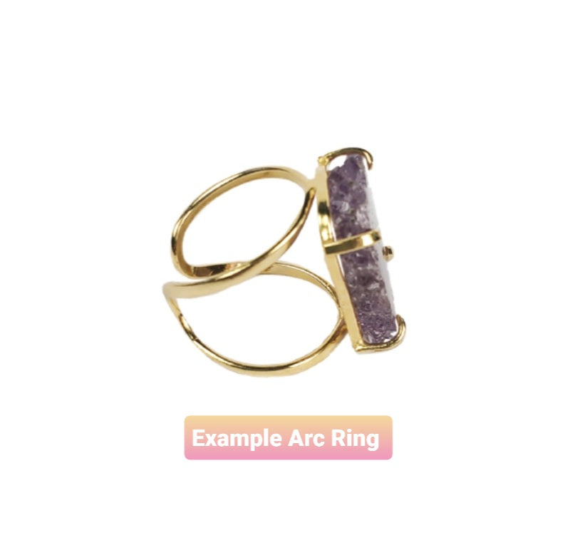 The Kira Amethyst Stalactite Ring Collection