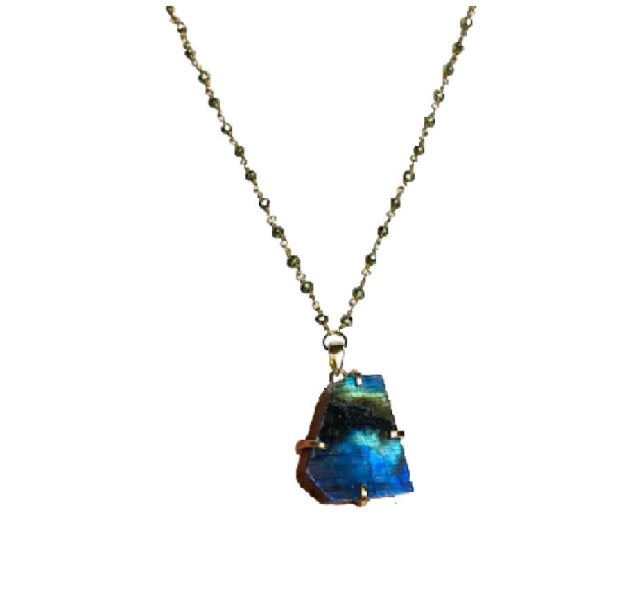 The Dina Labradorite Necklace Collection