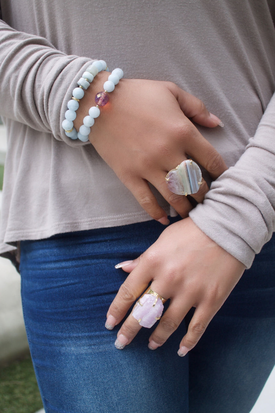 The Nara Lilac Cuff Ring Collection