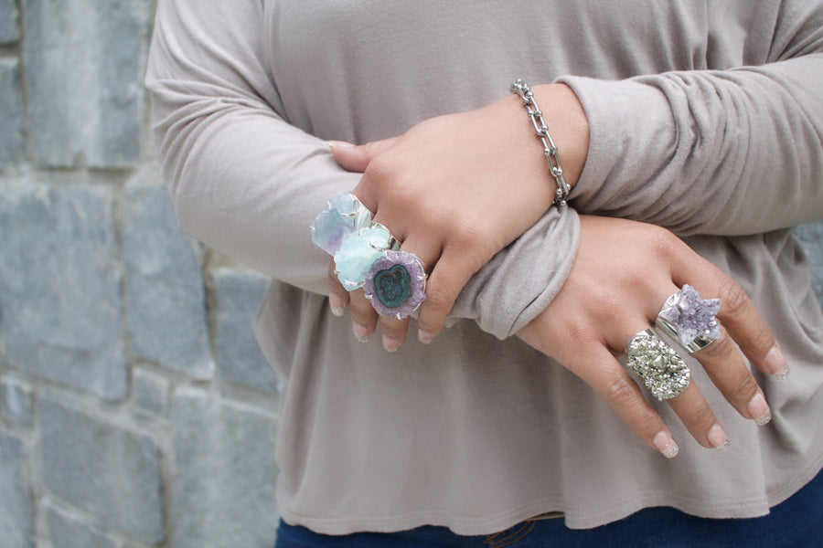 The Nona Aquamarine Ring Collection