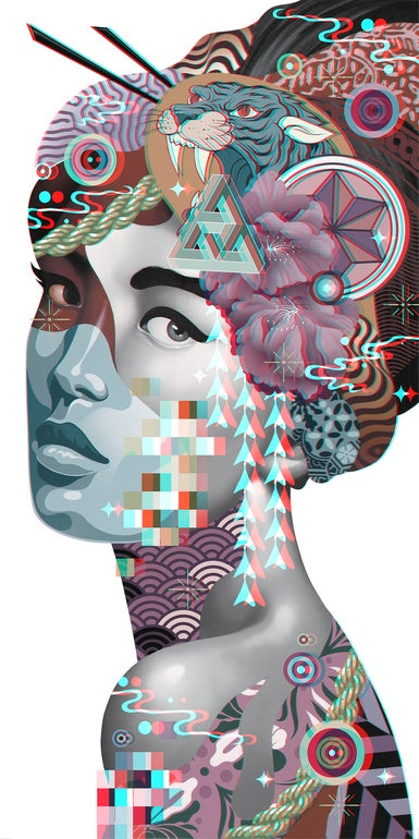 "New Release: ""3D Geisha"" by Tristan Eaton"