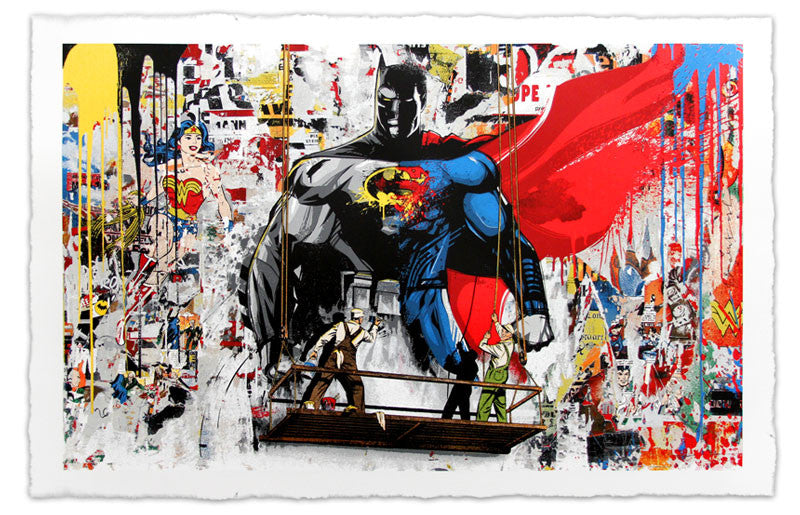 "New Release: ""Batman VS Superman"" by Mr. Brainwash"