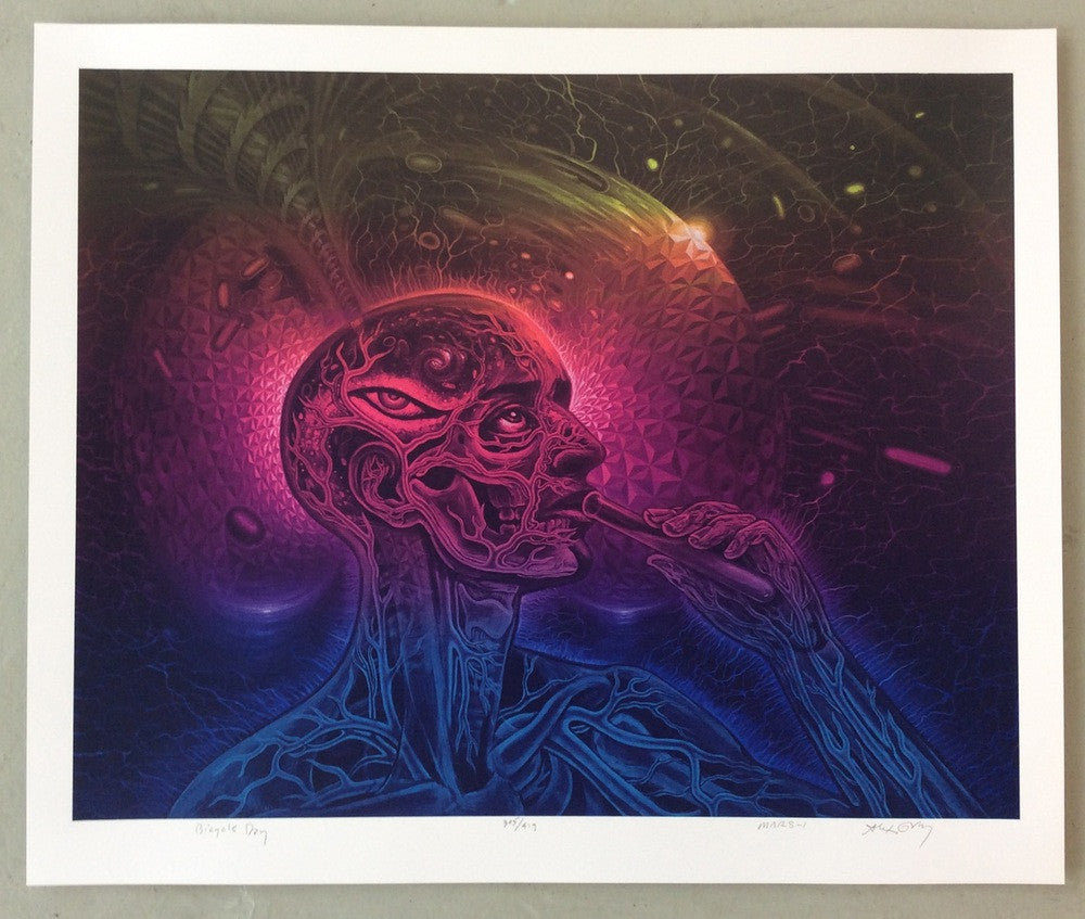 "New Release: ""Bicycle Day"" by Alex Grey & Mars-1"
