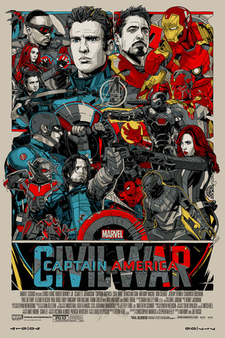 "New Release: ""Captain America: Civil War"" by Tyler Stout"