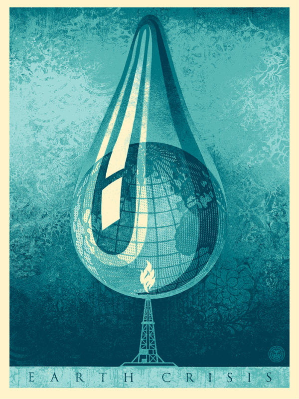 "New Release: ""Earth Crisis Drop"" by Shepard Fairey"