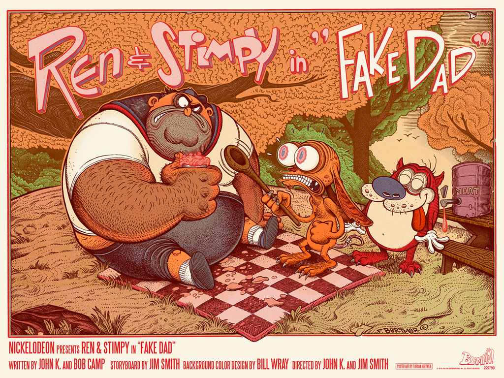 "New Release: ""Ren & Stimpy in Fake Dad"" by Florian Bertmer"