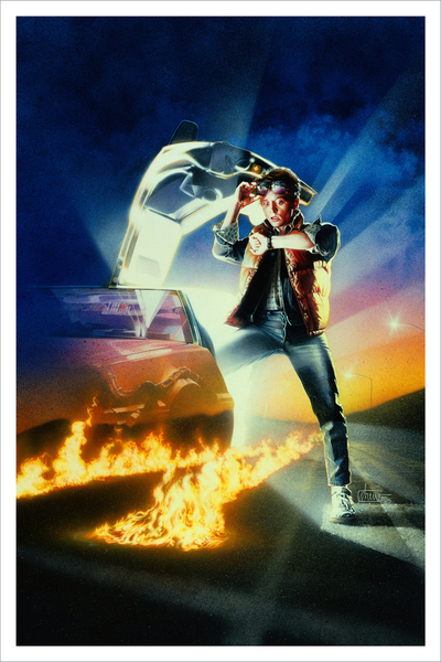 """Back to the Future"" (Art Print Variant) by Drew Struzan"