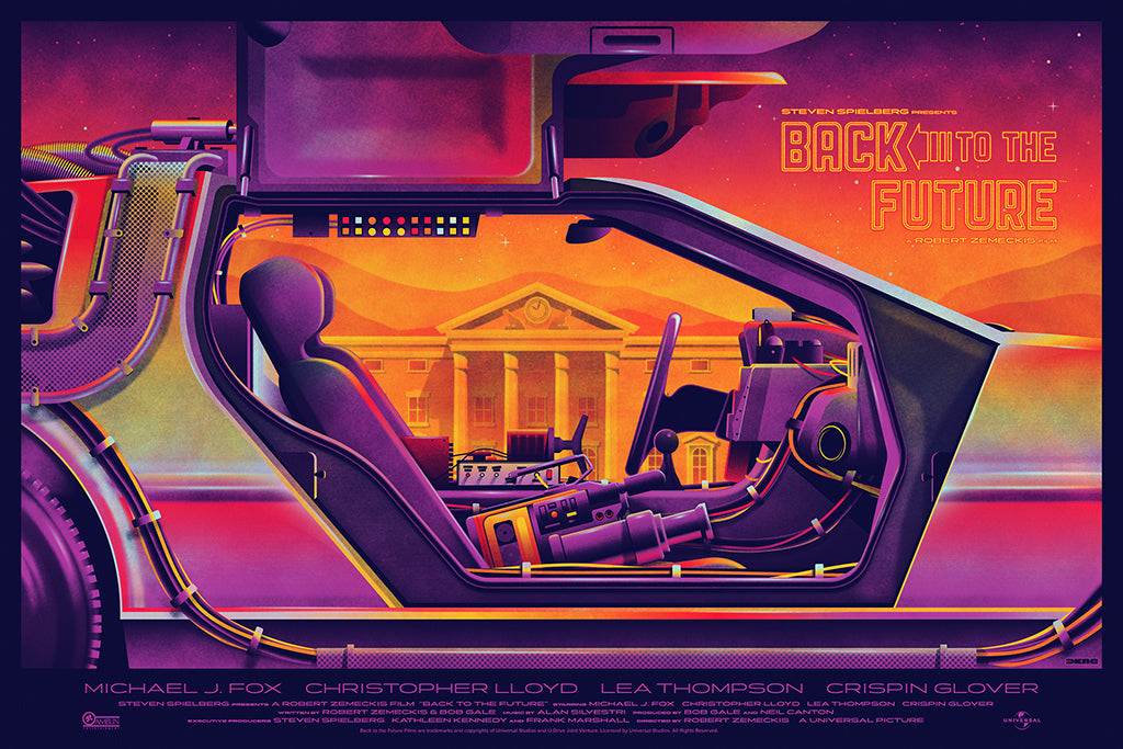 """Back to the Future"" (Variant) by DKNG Studios"