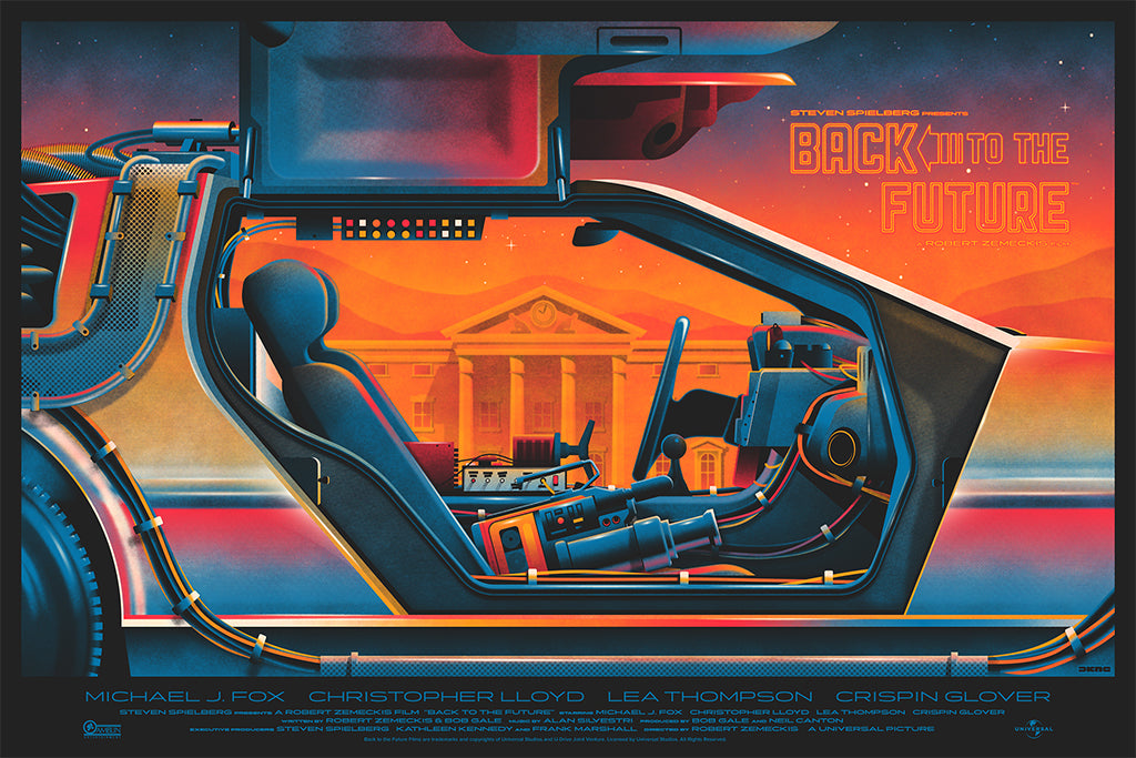 """Back to the Future"" by DKNG Studios"