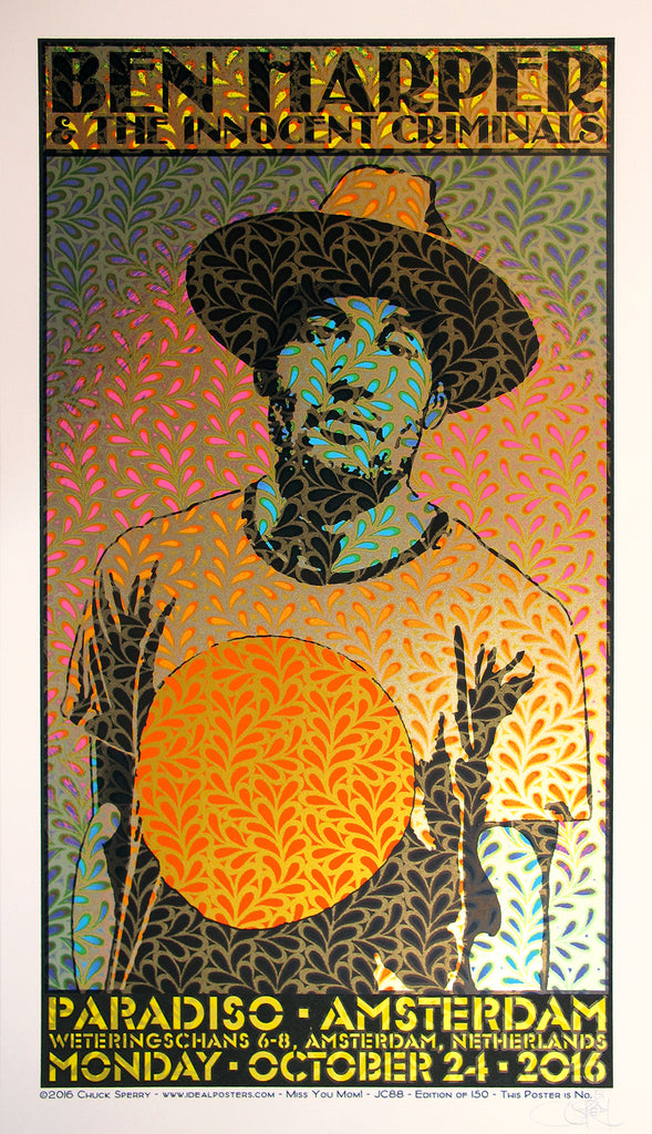 """Ben Harper & the Innocent Criminals Amsterdam 2016"" by Chuck Sperry"