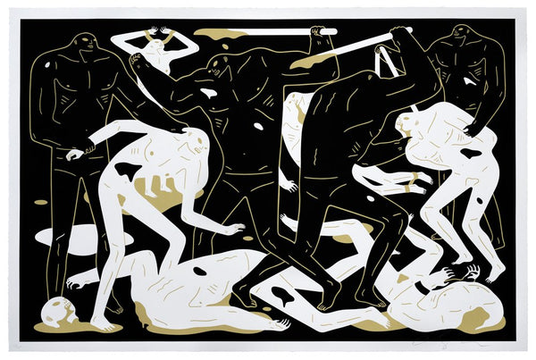 """Between Man & God"" (Black colorway) by Cleon Peterson"