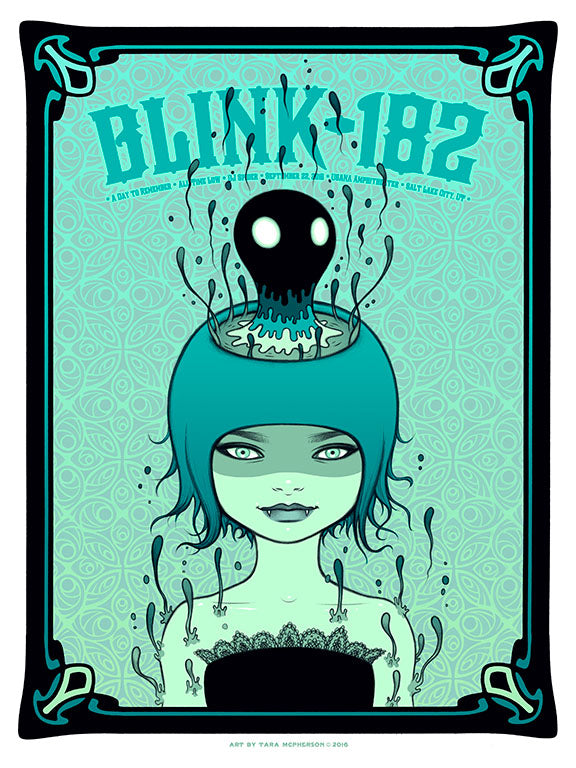 """Blink 182 Salt Lake City 2016"" by Tara McPherson"