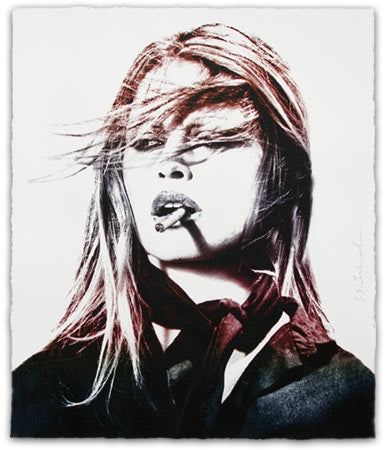 """Brigitte Bardot"" (Purple Lips Edition) by Mr. Brainwash"