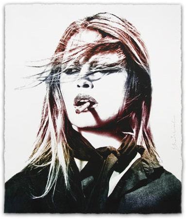 """Brigitte Bardot"" (Red Lips Edition) by Mr. Brainwash"
