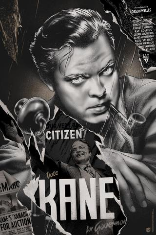 """Citizen Kane"" (Black and White variant) by Martin Ansin"