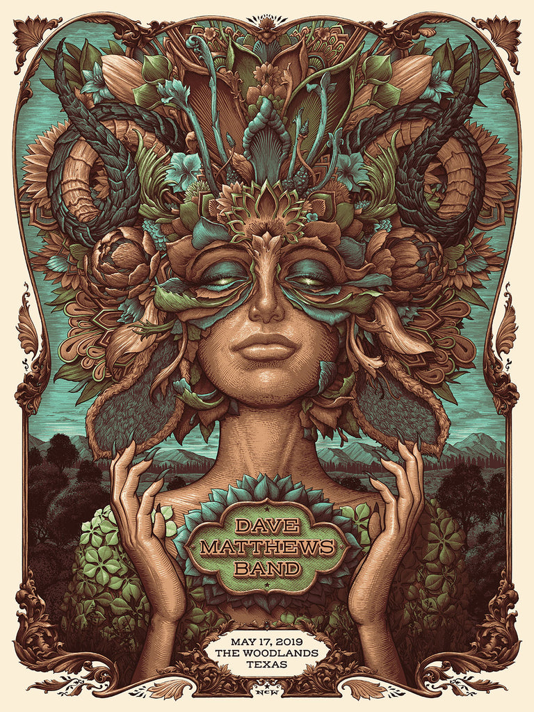 """Dave Matthews Band The Woodlands 2019"" (Serene Colorway) by NC Winters"