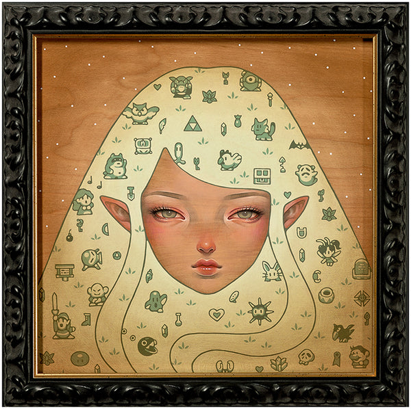 """Dreaming Of Koholint Island"" by Audrey Kawasaki. 12″ x 12″ Giclee. Framed option. $290"